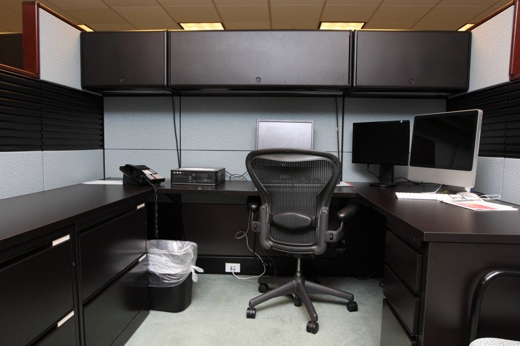 Cubicle in office