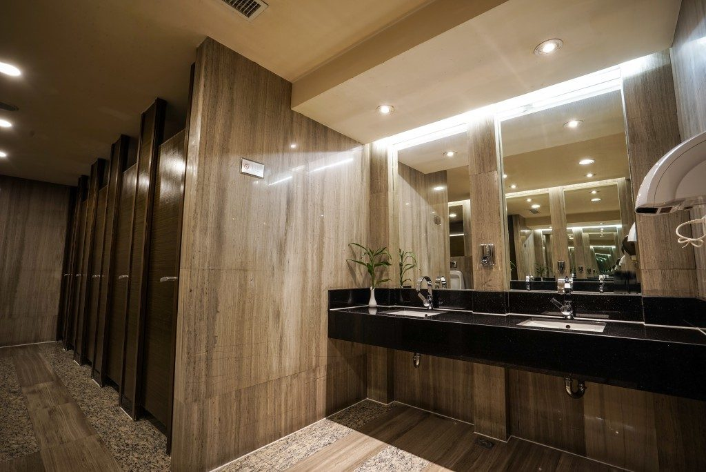 Commercial restroom of a resort