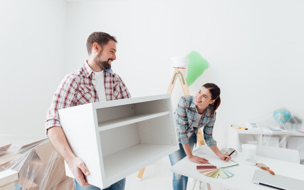 couple renovating their house