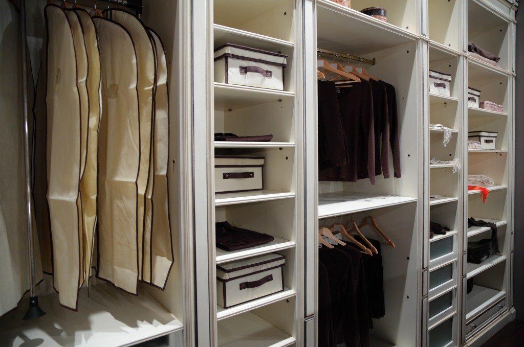 Organized home closet