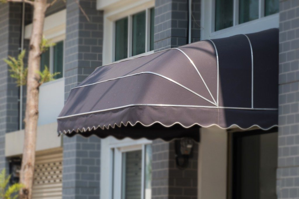 Awning outside a cafe