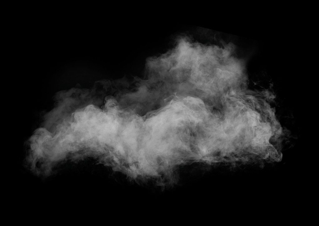 Smoke in black background