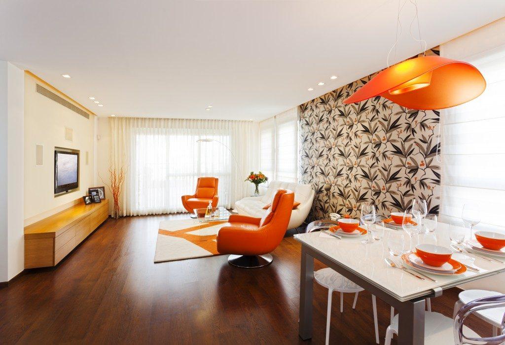 Studio apartment interiors